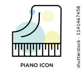 piano icon vector isolated on... | Shutterstock .eps vector #1141467458