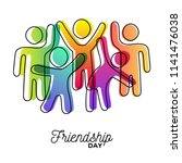happy friendship day greeting... | Shutterstock .eps vector #1141476038