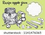 apple  jam sketch.vector hand... | Shutterstock .eps vector #1141476365