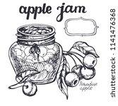apple  jam sketch.vector hand... | Shutterstock .eps vector #1141476368