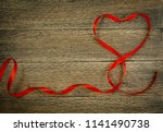 romantic valentines day red... | Shutterstock . vector #1141490738