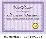 violet certificate of... | Shutterstock .eps vector #1141491785