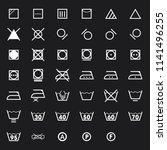 laundry symbols icon set .... | Shutterstock .eps vector #1141496255