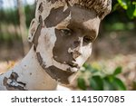 surreal mannequin face close up | Shutterstock . vector #1141507085