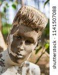 grunge mannequin face  | Shutterstock . vector #1141507088