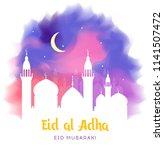 eid al adha  eid ul adha... | Shutterstock .eps vector #1141507472