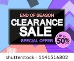 clearance sale  poster design... | Shutterstock .eps vector #1141516802