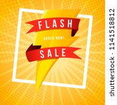 flash sale banner template... | Shutterstock .eps vector #1141518812