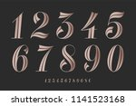 numbers font. classical elegant ... | Shutterstock . vector #1141523168