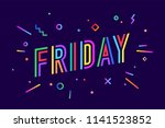 friday. banner  speech bubble ... | Shutterstock .eps vector #1141523852
