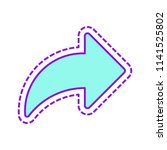 share icon with arrow. colored...