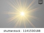 abstract gold rays shine.... | Shutterstock .eps vector #1141530188