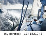 Stormy Weather On The Sea. A...