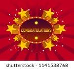 congratulations  beautiful... | Shutterstock .eps vector #1141538768