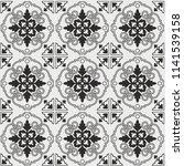 seamless pattern of tiles.... | Shutterstock .eps vector #1141539158