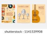 retro equipment music set... | Shutterstock .eps vector #1141539908