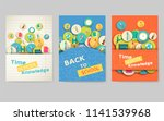 back to school information... | Shutterstock .eps vector #1141539968