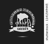 craft beer typography. beer... | Shutterstock .eps vector #1141549445
