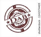 red dab distressed rubber... | Shutterstock .eps vector #1141574405
