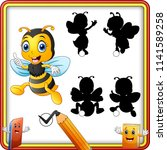 find the correct shadow bee... | Shutterstock .eps vector #1141589258