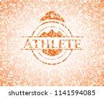 athlete orange mosaic emblem...   Shutterstock .eps vector #1141594085