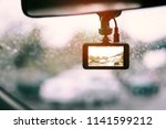 a camera in car has on and... | Shutterstock . vector #1141599212