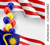 malaysian patriotic template... | Shutterstock .eps vector #1141604882