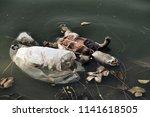 plastic waste  pollution... | Shutterstock . vector #1141618505