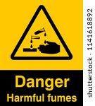 dangrous corrosive substance... | Shutterstock .eps vector #1141618892
