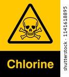danger sign with skull symbol....   Shutterstock .eps vector #1141618895