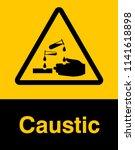 corrosive substance sign vector ...   Shutterstock .eps vector #1141618898