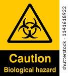 dangrous corrosive substance... | Shutterstock .eps vector #1141618922