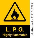 dangrous corrosive substance... | Shutterstock .eps vector #1141618925