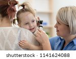 child's otolaryngologist doing... | Shutterstock . vector #1141624088