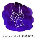 ketupat linear icon. thin line...   Shutterstock .eps vector #1141625492