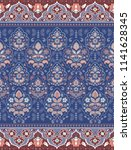indian rug paisley ornament... | Shutterstock .eps vector #1141628345
