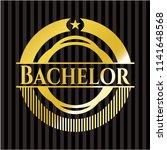 bachelor gold badge   Shutterstock .eps vector #1141648568