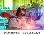 industrial business with metal...   Shutterstock . vector #1141652225