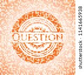 question abstract orange mosaic ... | Shutterstock .eps vector #1141665938