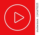 red round button video player.... | Shutterstock .eps vector #1141670225