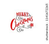 merry christmas insignia and... | Shutterstock . vector #1141672265