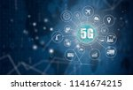 5g network wireless systems and ...   Shutterstock . vector #1141674215