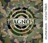 diagnose camouflaged emblem | Shutterstock .eps vector #1141675865
