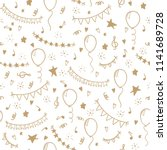 seamless pattern hand drawn... | Shutterstock .eps vector #1141689728