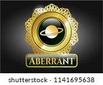 golden badge with planet ...   Shutterstock .eps vector #1141695638