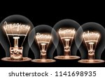 photo of light bulbs with... | Shutterstock . vector #1141698935