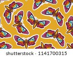 seamless pattern with... | Shutterstock .eps vector #1141700315
