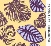 seamless vector tropical... | Shutterstock .eps vector #1141703762