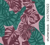 vector tropic seamless pattern. ... | Shutterstock .eps vector #1141705322