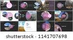 minimal presentations design ... | Shutterstock .eps vector #1141707698
